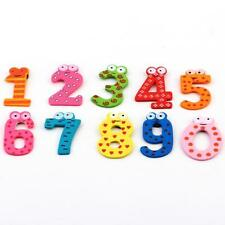 Numeri Magnetici in Legno 0 a 9-Frigo Calamita-Early Learning