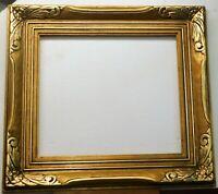 Vintage carved gold leaf frame fits 14 x 16 painting