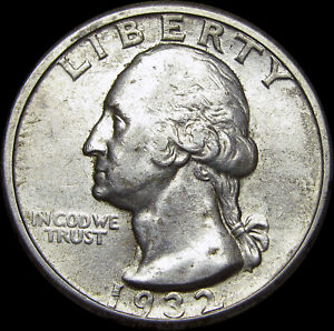 1932-D Washington Quarter Dollar Silver ---- Rare Key Date US Coin ---- #S338