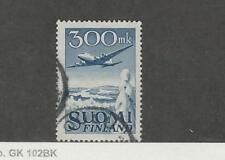 Finland, Postage Stamp, #C3 Used, 1950 Airplane