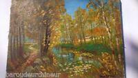 Huile sur toile impressionniste.  Impressionist Oil on canvas signed René GENIN