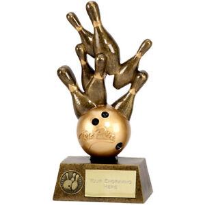 Pinnacle Star Ten Pin Bowling Trophy - Free Engraving