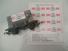 RETRODECAL 1960's TUNNEL CEMENT '00' Gauge Self Adhesive Decals for wagons