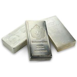 100 oz .999 Silver Bar - Circulated Secondary Market - Random Hallmark #A175
