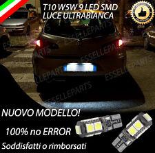 COPPIA LUCI TARGA 9 LED ALFA ROMEO 147 CANBUS NO AVARIA LUCI BIANCO T10 W5W