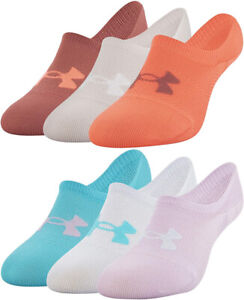 NWT Under Armour Women's Breathe Lite Lightweight Ultra Low Socks 3 Pack Pairs