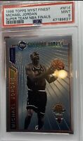 1996 FINEST MYSTERY SUPER TEAM NBA FINALS MICHAEL JORDAN #M14 POP 14 PSA 9!