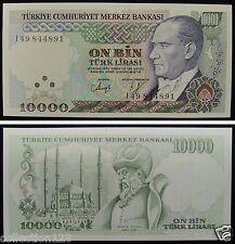 Turkey Paper Money 10000 Lirasi UNC