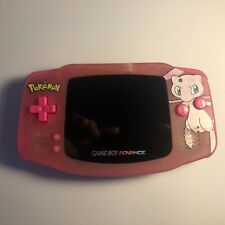 Gameboy Advance GBA Console Backlit IPS V2 Pokemon Mew Clear Pink Console