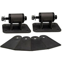 Black Engine Motor Mounts for Chevrolet LS1 LS2 LS3 LS6 Conversions Universal