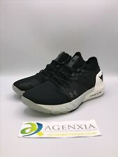Under Armour Women 10 Project Rock 2 Black White Training Sneakers Shoes 3022398