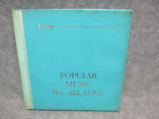 Popular Music We All Love (9) Record Box Set 33 LP Readers Digest RCA RDS-37