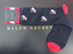 Polo RALPH LAUREN Men's Socks Embroidered P Wing CP93 Stadium Size 10-13