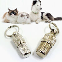 Anti-Lost Pet Dog Cat Puppy ID Tag Name Address Label Identity Barrel Tube J9Q8