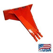 New Hd Skid Steer Stumprootbucketkmk Welding Llckubota Orange44 Inch