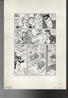 z060 Mitsuo Oya 1982 Original Japanese Manga Comic Art Interior Page