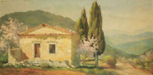 "Elie BERNADAC (1913-1999) huile/ toile  "" Paysage"". v870"