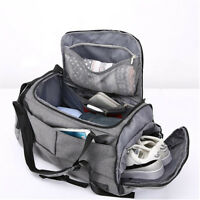 Waterproof Lock Travel with Shoes Compartment Handbag Backpack Duffel Gym Bag