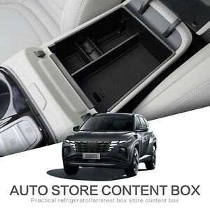 Car Central Armrest Box for Tucson NX4 2021 2022 Storage Console Container Tray