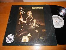 Suzi Quatro 70s POP DETROIT ROCK GLAM LP Quatro ORIGINAL 1974 USA WHITE LABEL LP