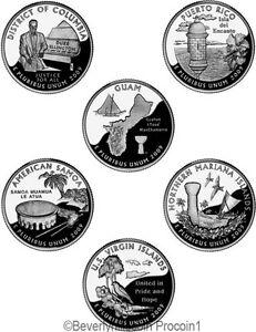 2009 Quarters Territories 12 coin set Denver and Philadelphia