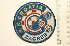 NK Croatia Zagreb Hrvatska Soccer Football Sewn Patch Emblem Embroidered New
