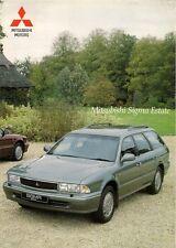 Mitsubishi Sigma 3.0 V6 Estate 1994-96 UK Market Foldout Sales Brochure