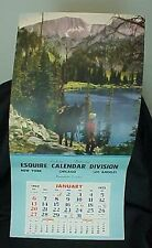 1952 Esquire Calendar Division Salesman Sample Calendar Land of Romance Mountain