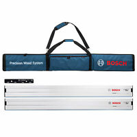 Bosch FSN 1600 Circular Saw Guide Rail Kit, 2 x 1.6m Rails, 1 VEL Connector +Bag