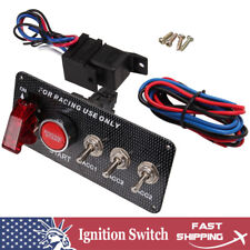 DC12V Ignition Switch Panel 5 in 1 Car Engine Start Push Button LED Toggle