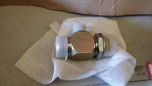 CNH CASE L107509 TEE W30 WHEEL LOADER HYDRAULIC CIRCUIT VALVE TEE