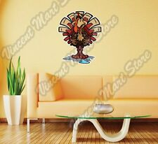 "Sweating Thanksgiving Holiday Turkey Wall Sticker Room Interior Decor 20""X25"""