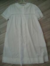 Christian Dior Lingerie Solid White Short Sleeve Button Front Robe        Size M