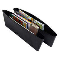 2Pcs New Black Car Auto Accessories Seat Seam Storage Box Phone Holder Organizer