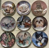Lot 9 Decorative Plates Cats Butterflies Shih Tzu Franklin Mint Hamilton W S Geo