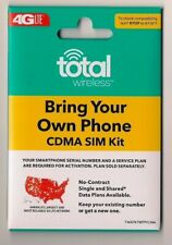 Total Wireless Bring Your Own Phone Cdma Dual Sim kit fits Verizon phones