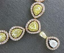 133.50CT WHITE & FANCY YELLOW DIAMOND 18KT YELLOW & ROSE GOLD 3D TENNIS NECKLACE