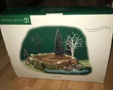 DEPARTMENT 56 VILLAGE ACCESSORIES SOUNDS OF THE NORTH WOODS DISPLAY PLATFORM