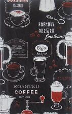 Freshly Brewed Roasted Coffee Vinyl Flannel Back Tablecloths (Various Sizes)