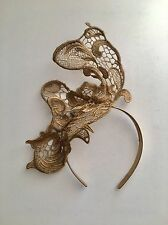 Gold Lace Fascinator Headpiece Crown