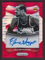 2014-15 Panini Prizm Auto Red Pulsar #63 Elvin Hayes /149 Houston Rockets