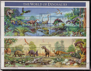US #3136 The World of Dinosaurs Complete Sheet of 15 Mint Never Hinged