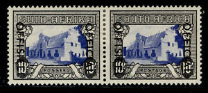 SOUTH AFRICA GVI SG O51, 10s blue & charcoal, M MINT. Cat £80.