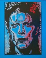 DAVID BOWIE ZIGGY STARDUST Limited edition print #30 MATT DYE BLUNT GRAFFIX blue