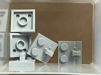 LEGO Parts - Light Bluish Gray Hinge Plate 2 x 2 Locking - No 92582 - QTY 5
