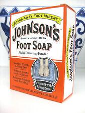 JOHNSON'S Foot Soap Soak Powder Borax, Iodide, & Bran Packets 4 Each