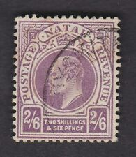 South Africa NATAL 1904/9 KEVII 2/6 purple wmk mult crown CA SG157 FU fine used