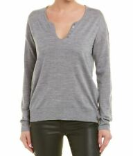 BNWT RRP £250 ZADIG & VOLTAIRE GREY AMOUR LOVE MERINO WOOL SWEATER JUMPER LARGE