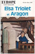 EUROPE - ELSA TRIOLET ET ARAGON - 1967