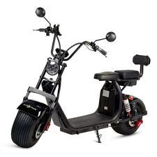 Moto electrica scooter 1200w bateria 60Ah patinete bici chopper City Coco negra
